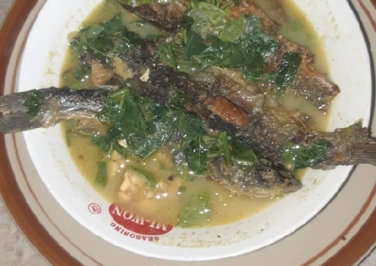Ikan keting sayur singkil & tempe