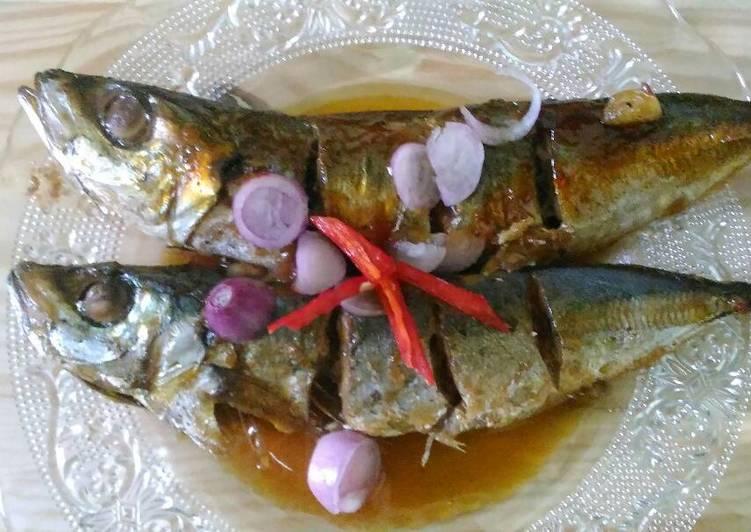 Ikan kembung panggang saus tiram