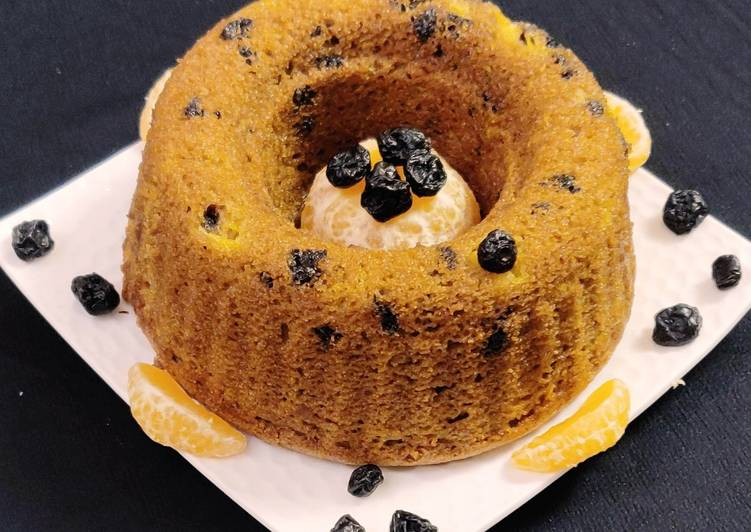 Vegan Orange Blueberry Cake