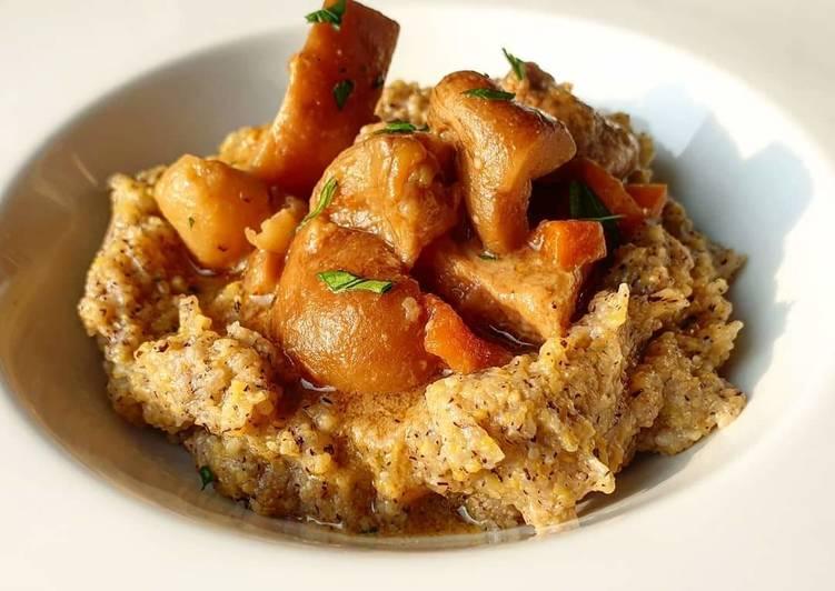 Recipe: Appetizing Spezzatino di vitello affumicato con funghi porcini e polenta