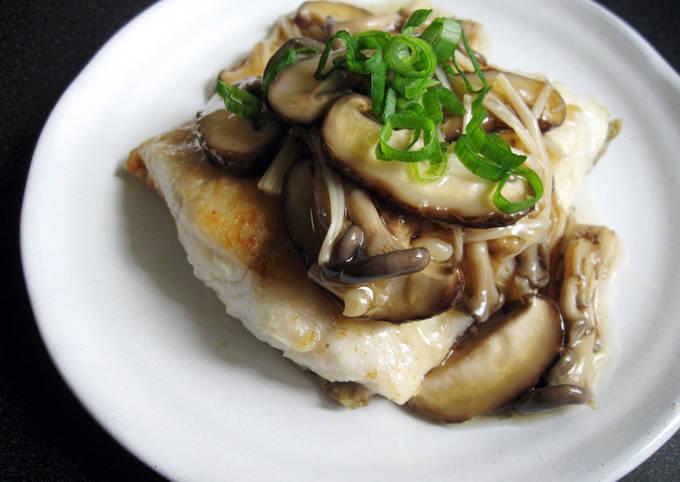 Japanese Mushroom Sauce & Fish