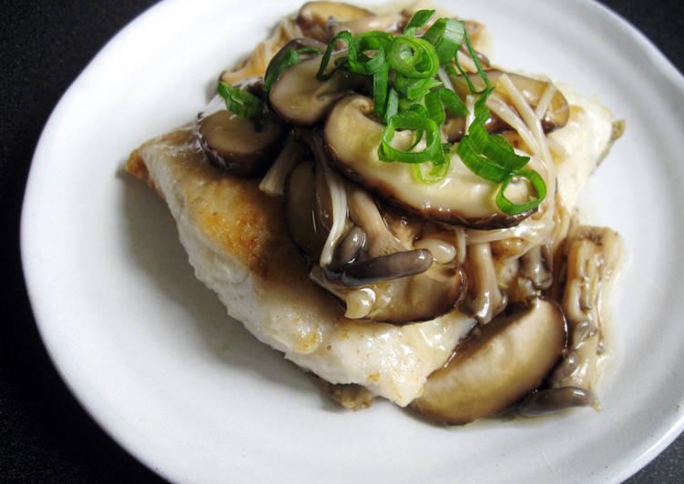 Steps to Prepare Favorite Japanese Mushroom Sauce & Fish