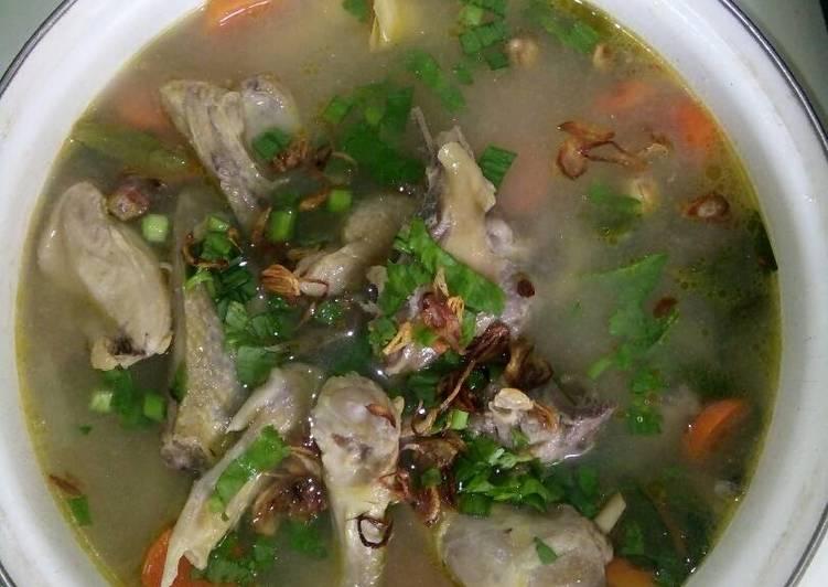 Sop ayam kampung 🍜 foto resep utama
