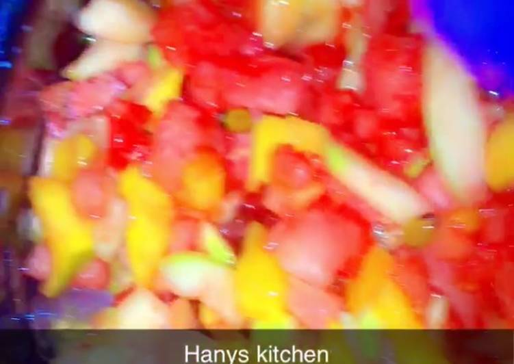 Fruits salad with fresh