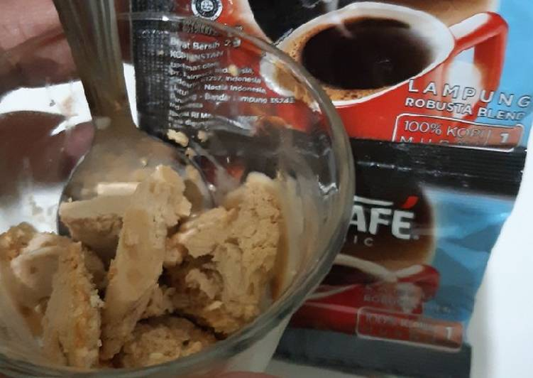 Es cream Nescafe homemade