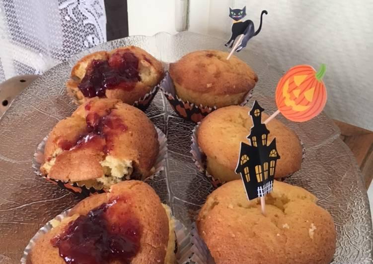 Le moyen le plus simple de Cuire Savoureux Petits gâteaux Halloween aux raisins et confiture maison
