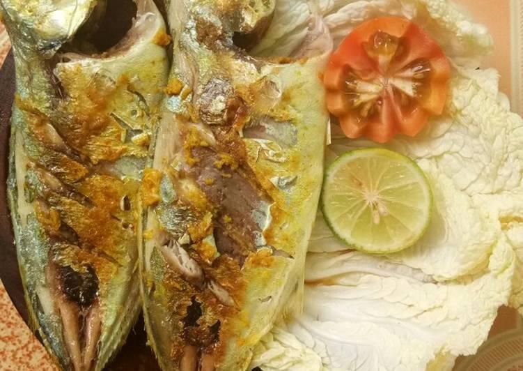 Ikan bakar teflon bumbu kuning