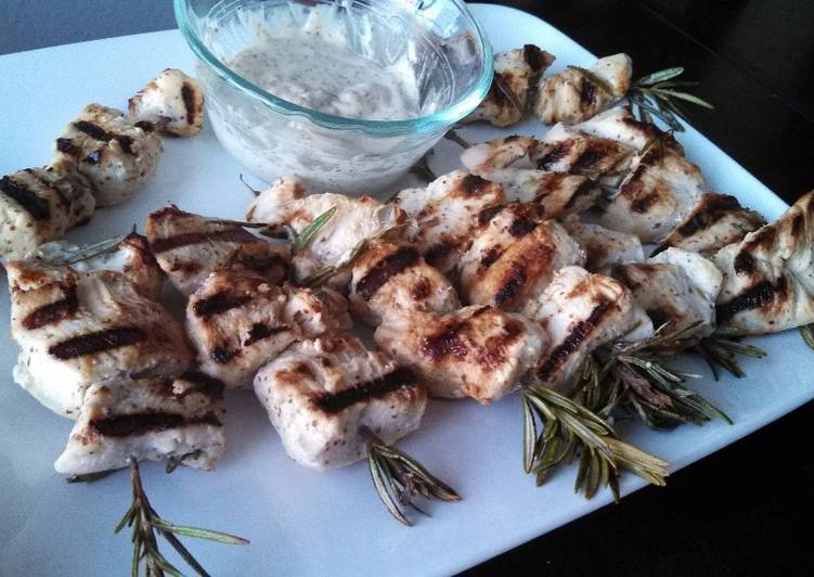 Steps to Make Homemade Rosemary Lemon Chicken Skewers