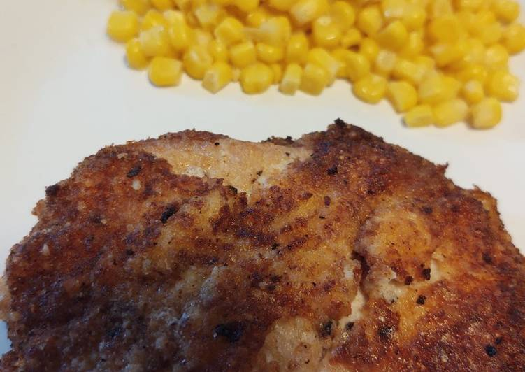 Step-by-Step Guide to Make Super Quick Homemade Parmesan-crusted Pork Chops