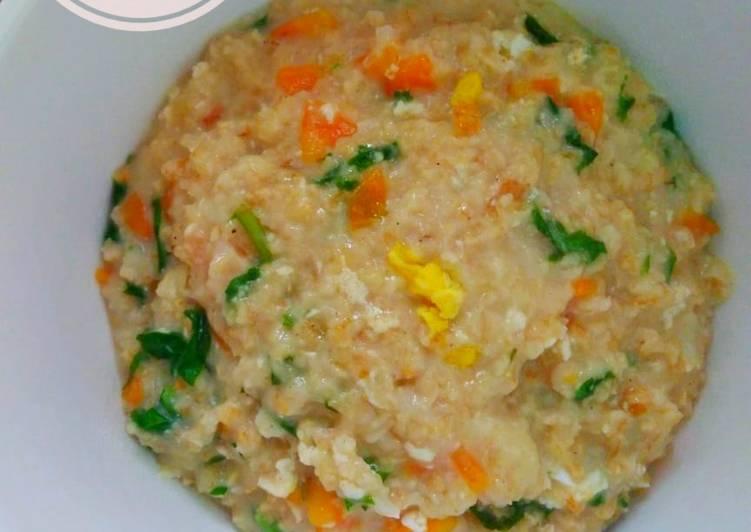 Resep Bubur Oat dan Sayuran (Sarapan Sehat) Terenak