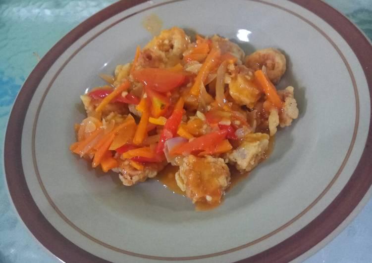 Rahasia Membuat Ayam tepung saus asam pedas manis yang Lezat!