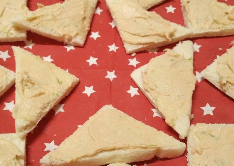 Steps to Prepare Homemade Smoked salmon mousse Tramezzini 🎄