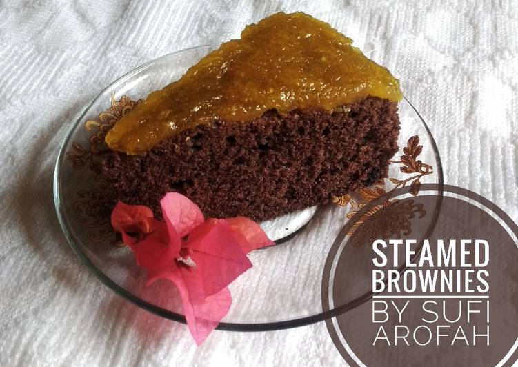 Steamed Brownies (brownies coklat kukus lumer)