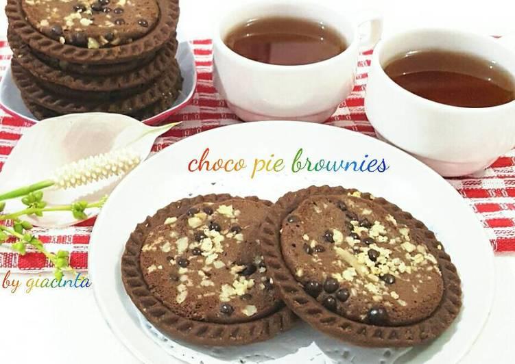 Resep Choco pie brownies Terenak