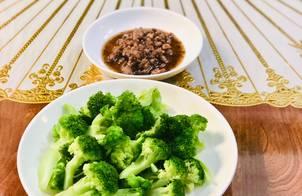 Bông cải xanh + Thịt kho tiêu