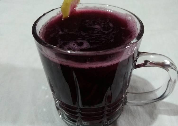 Simple Way to Prepare Perfect Black grapes juice