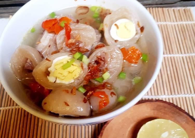 Bakso Aci isi telur puyuh & daging
