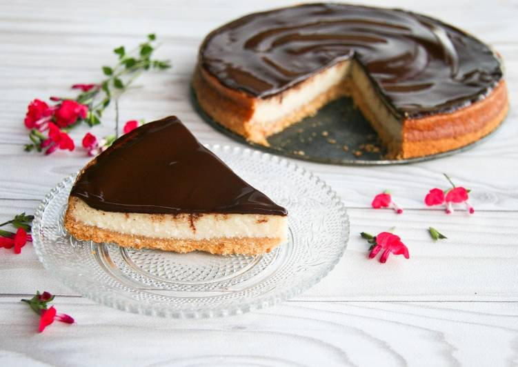 Cheese-cake végétal noix de coco et chocolat