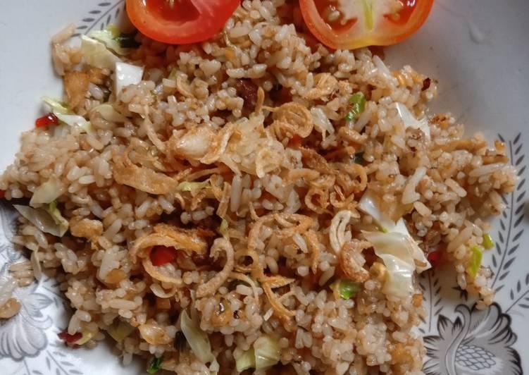 Fried rice eggless