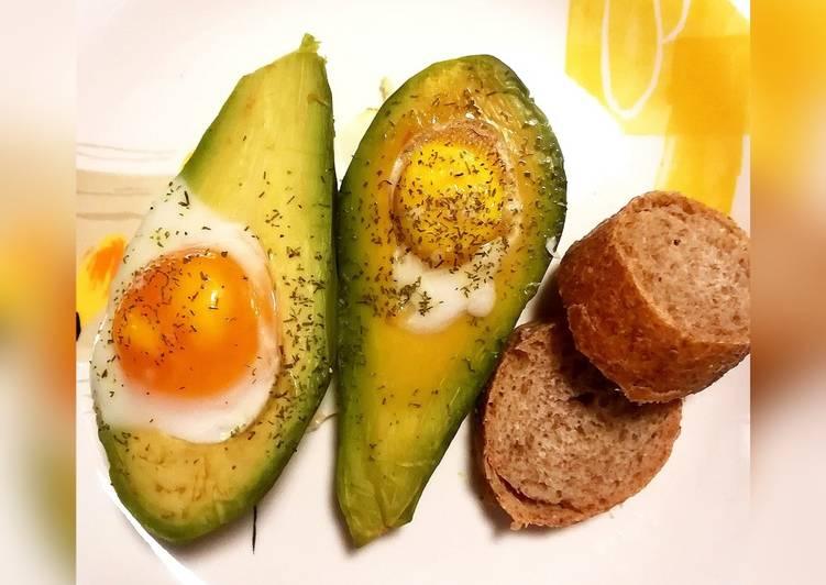 Uova e avocado al forno