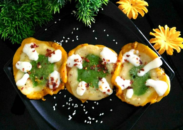 Tricolour candid cheese pancake