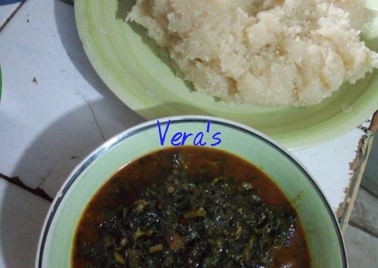 15 Minute How to Prepare Blends Atama soup and eba