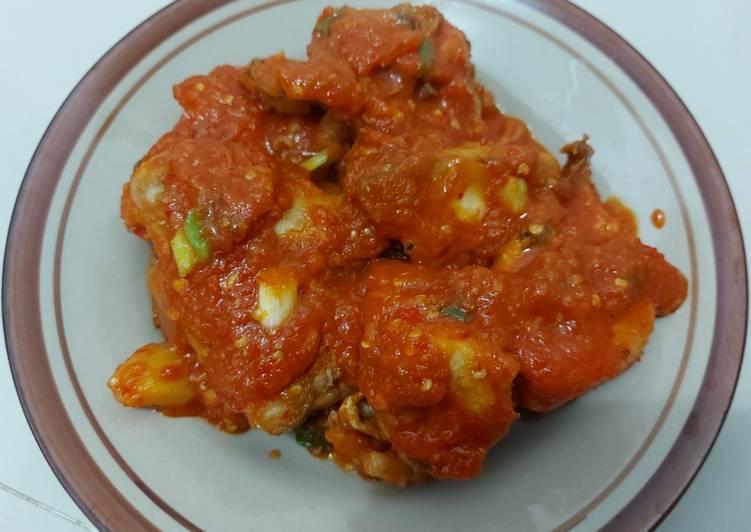 Resep Ayam Goreng Saos Padang