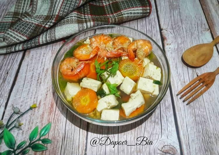 Sup Tahu Udang ala Thai