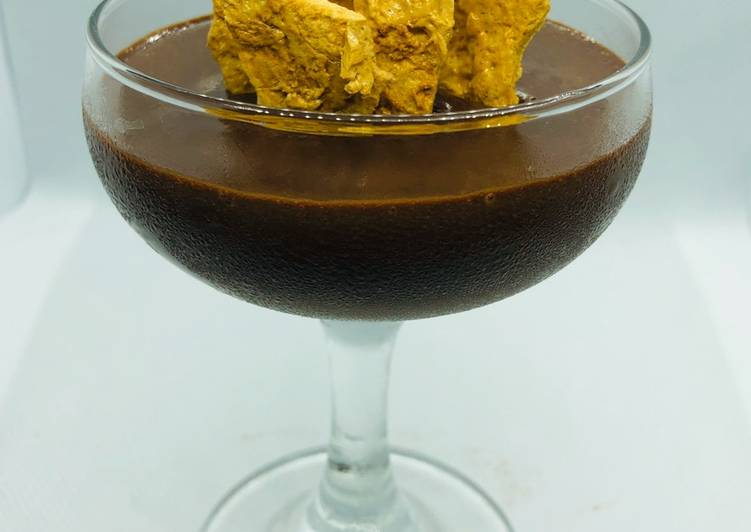 Recipe of Award-winning Hokey Pokey Chocolate Mousse
