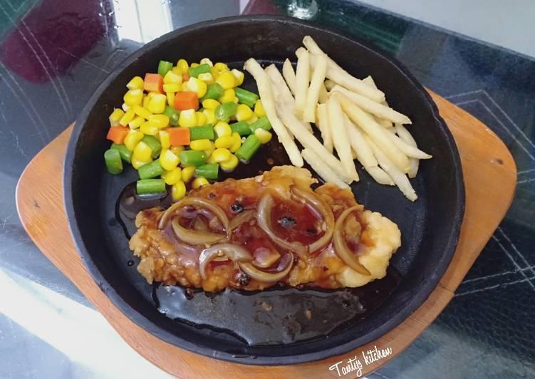 Resep Chicken Steak Saus Lada Hitam Oleh Tanty S Kitchen Cookpad