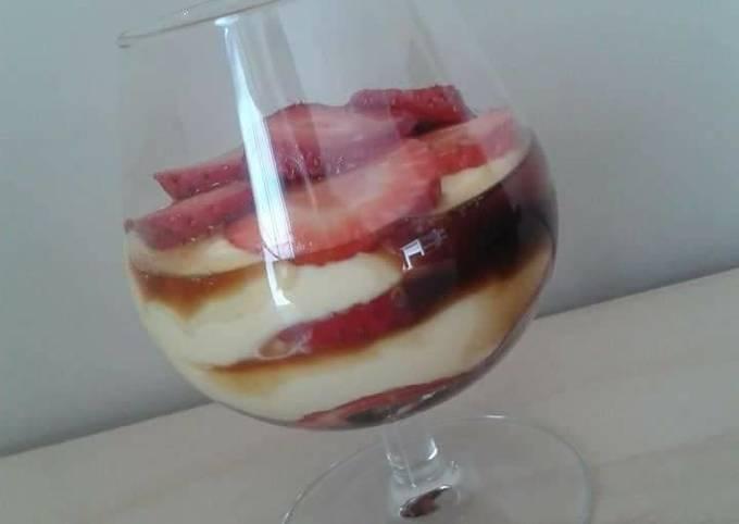 Tiramisu fraise mascarpone vinaigre balsamique