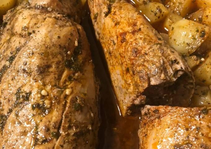 Delicious butter herb pork tenderloin