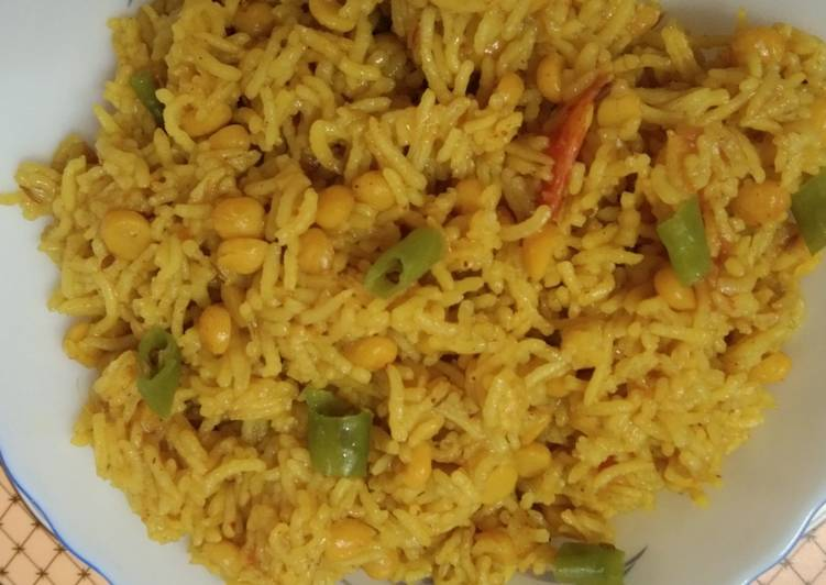 Chana Dal Cooked with Rice