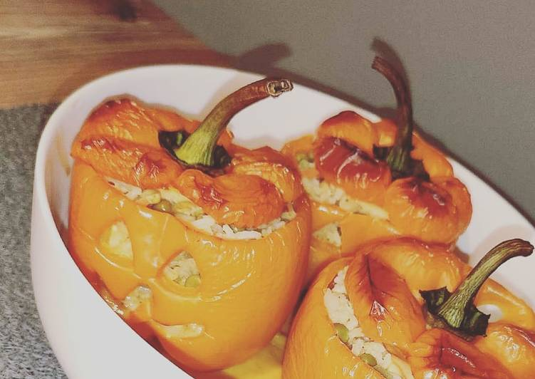 Recette Appétissante Poivrons farcis d'halloween