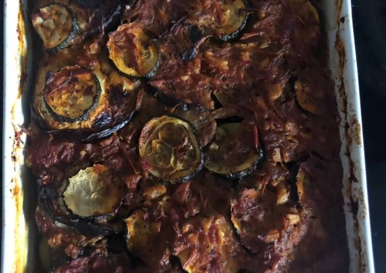 Gratin de courgettes, aubergines � à la sauce tomate 🥫 faite maison