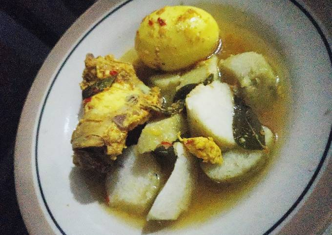 Gulai ayam,telur(menu diet)