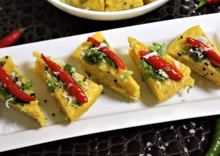 Achari Khaman Dhokla Finding Healthy Fast Food
