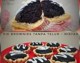 Pie Brownies Ekonomis TANPA Telur ~ Krenyess Pie nya, Legitt Brownies nya. ?