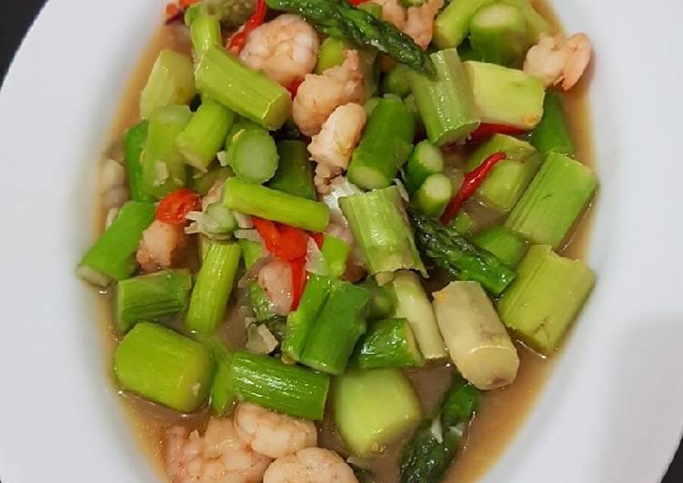 Asparagus udang saus tiram