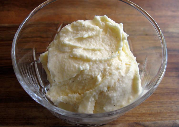 Recipe: Perfect Super Easy Vanilla Ice-cream