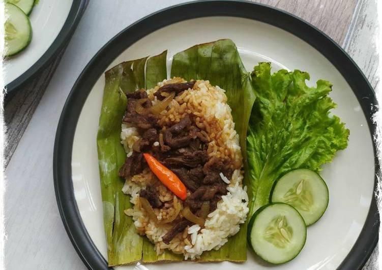 Resep Nasi Bakar Daging Sapi  Anti Gagal