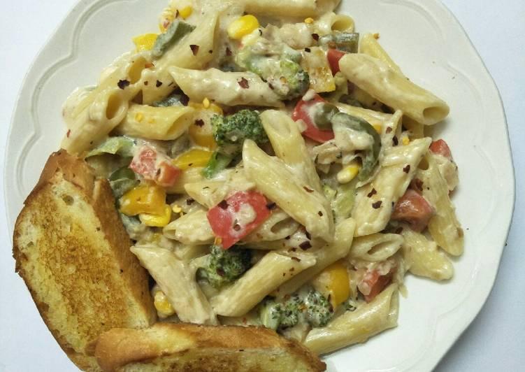 Recipe of Quick Veg pasta in white sauce