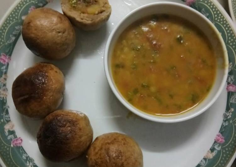 Step-by-Step Guide to Make Ultimate Healthy dal and stuffing baati