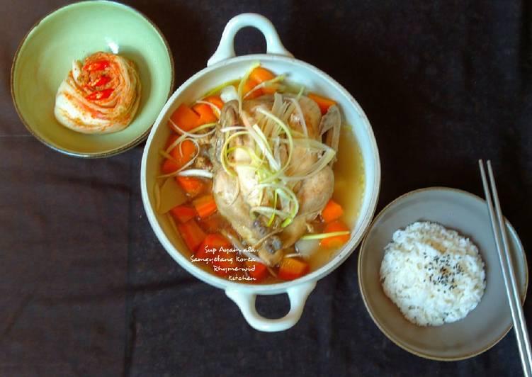 Sup Ayam ala Samgyetang Korea
