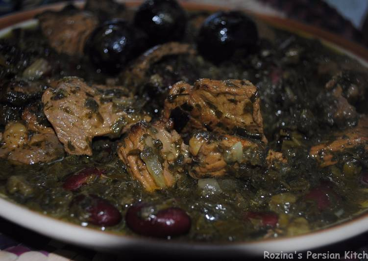 How to Make Speedy Persian herb stew (Qormeh sabzi)