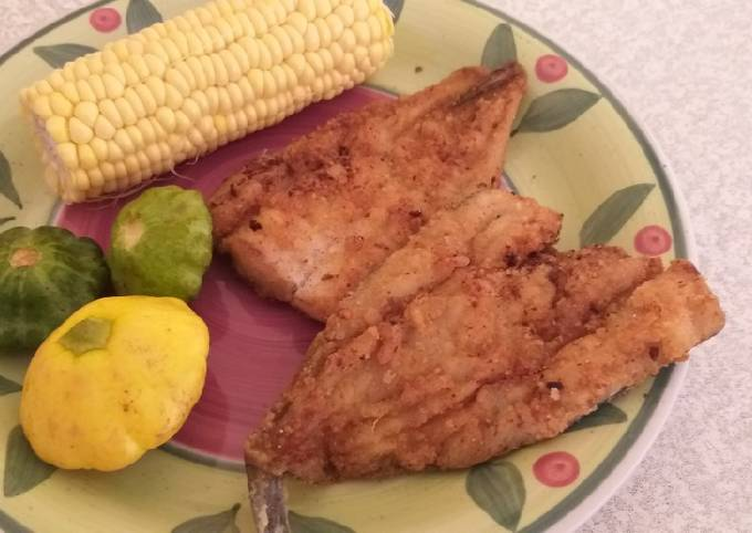 Fried fish without eggs