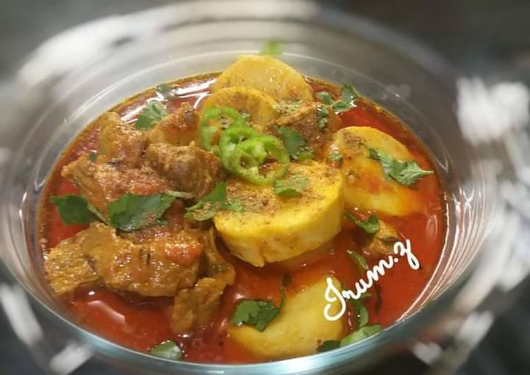 🥘Arvi Gosht🥘 (taro or Colocasia lamb curry)