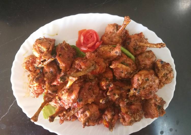 Chicken shezwan lollipops