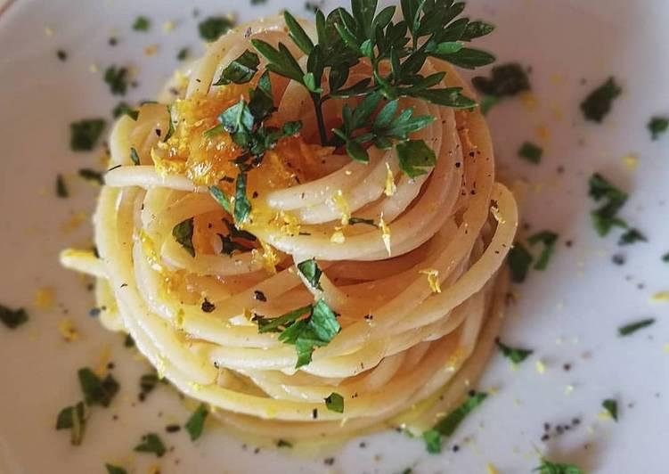 Spaghetti di semola di grano duro al limone 🌷
