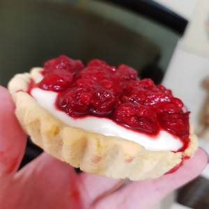 Tarta dulce de frambuesa (receta incluida masa para tarta dulce)